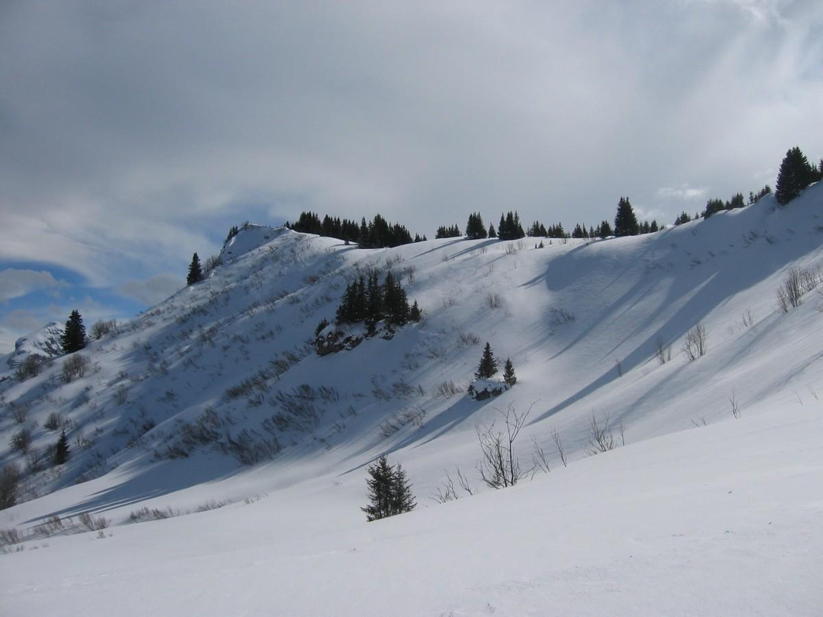 Pointe des Lanches, depuis le plateau sous l'Aup Couti