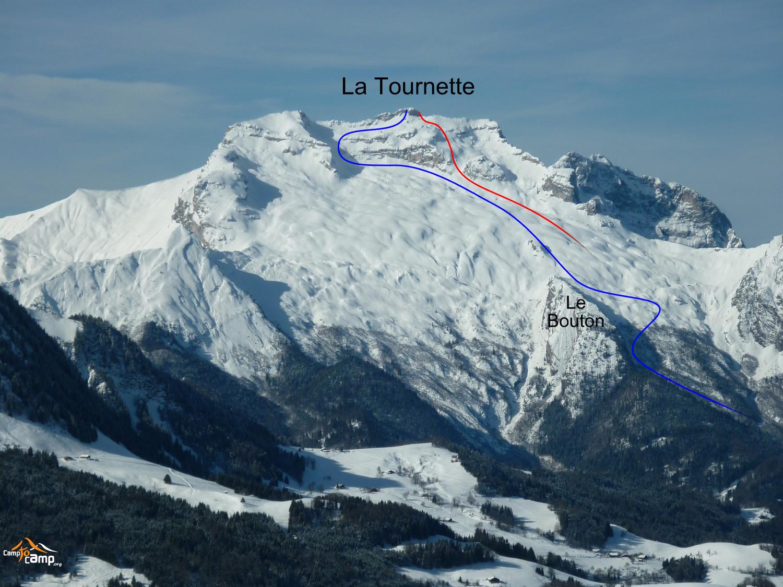 Topo : La Tournette, versant NE