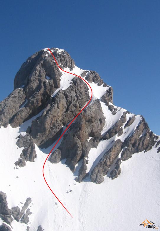 Topo : Pointe Percée, Cheminées de Sallanches