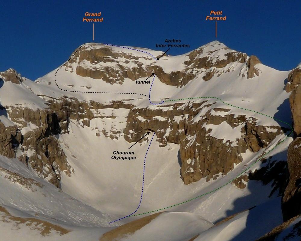 Grand Ferrand - Olympic Chourum (alpine ski route)