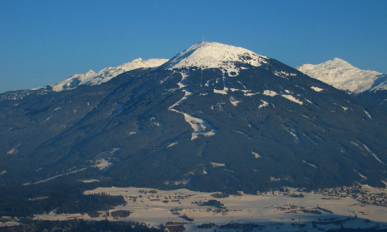 face W du Patscherkofel (2246m) dans le Tyrol, vue de la Muttereralm