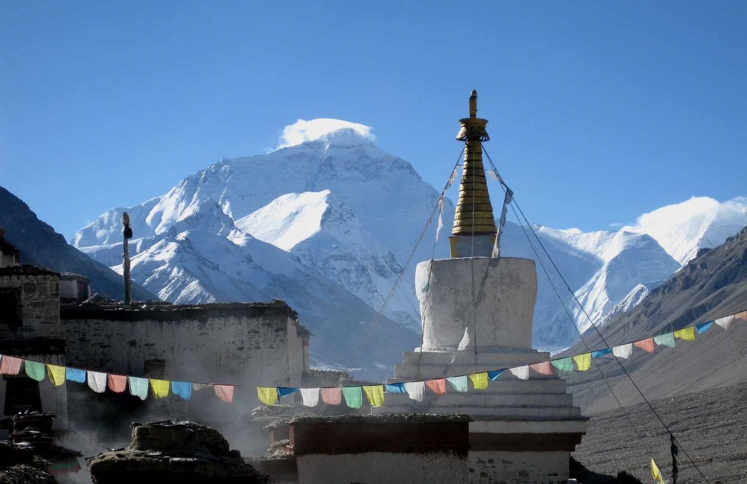 Temple & face nord de l'Everest