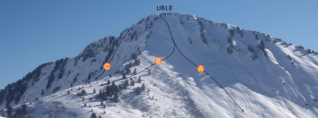 Uble, couloir W