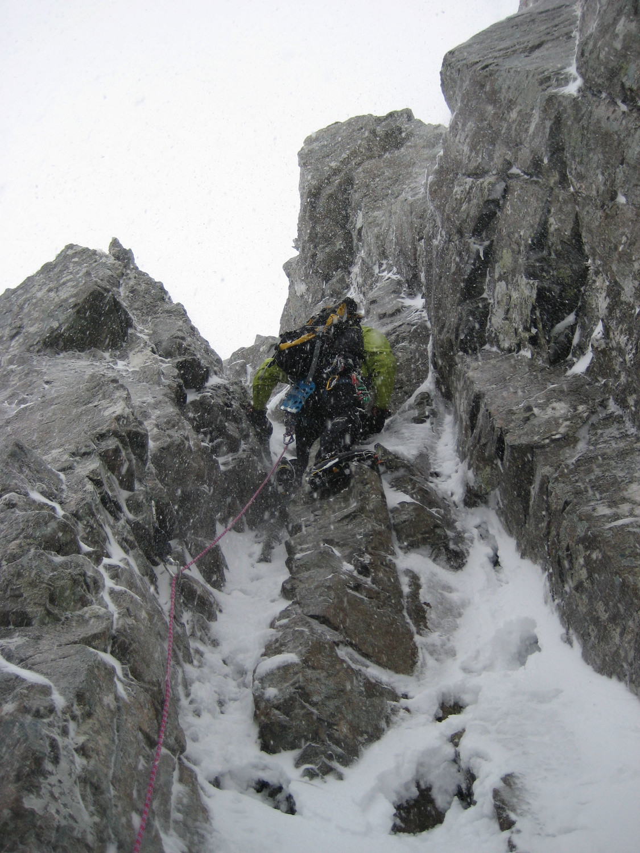 Tower Ridge - Cheminée d'attaque
