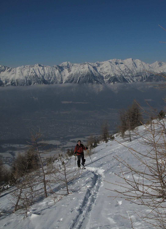 Montée sur fond d'Innsbruck