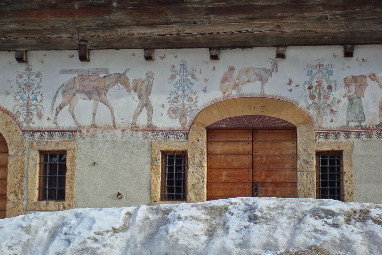 Ernen: entrée du Binntal