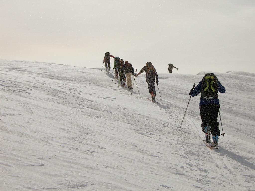 Proche du sommet du Horlini...