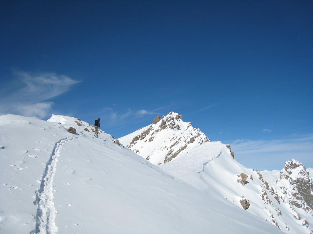 Tête Noire et le point 2744m (plateau neigeux)