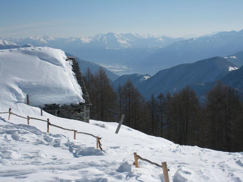 Alpe Pesced, montée au Pilone depuis Spruga