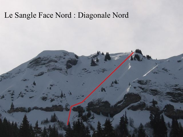 Le Sangle, Diagnoale Nord