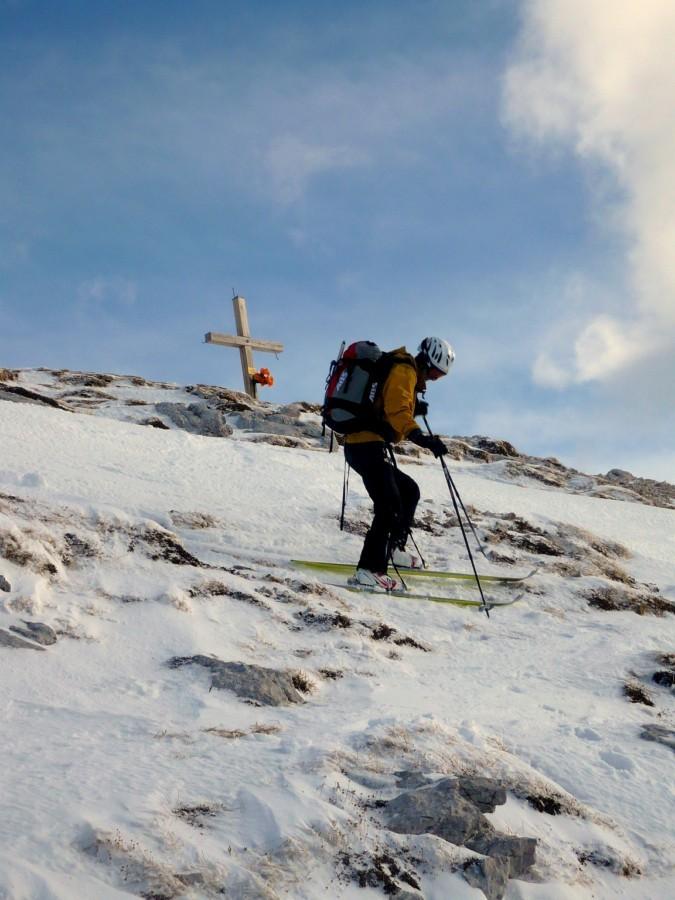 Départ skis aux pieds