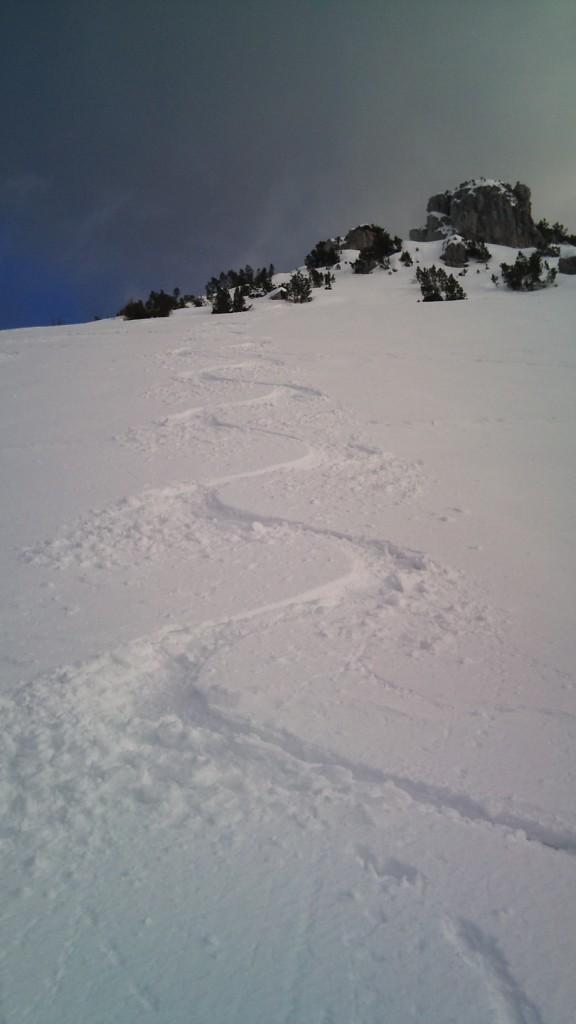 ...firma sulla neve