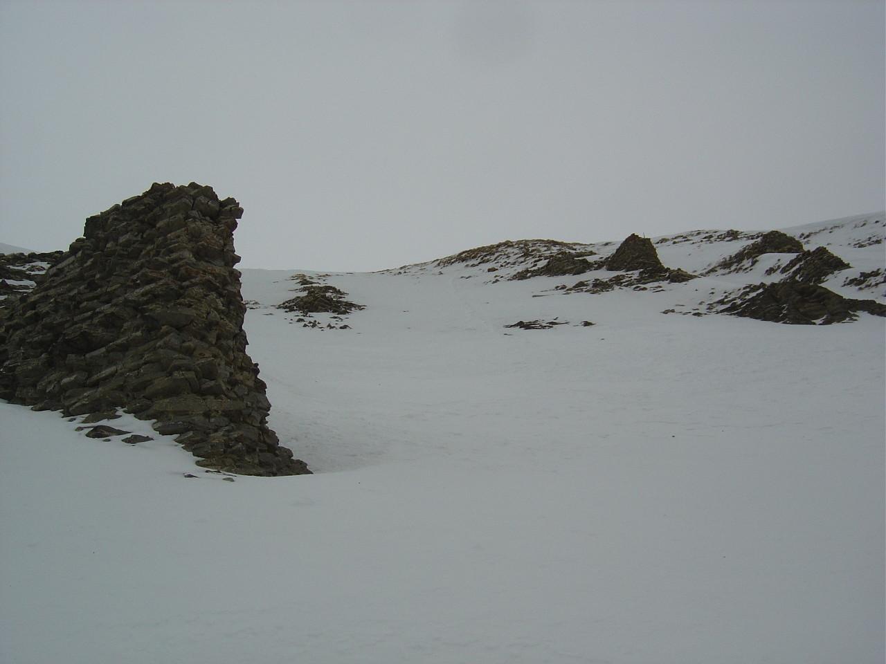 Dernière pente raide avant le sommet.