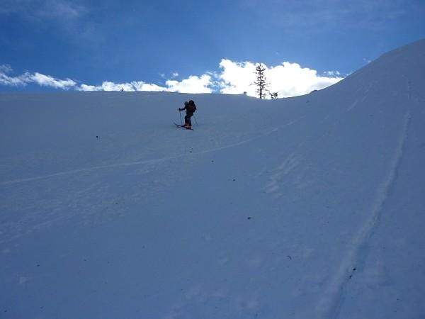 Salendo al Druesberg.I ripidi pendii a 1500 m di quota.