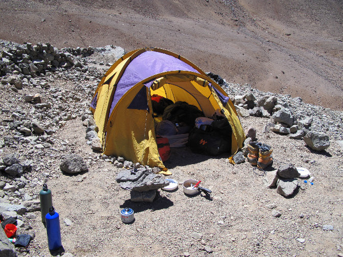 Notre tente au camp de base