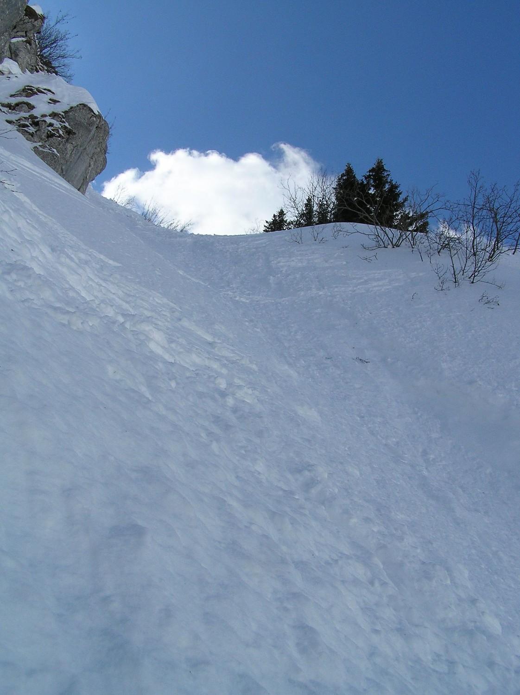 60kg répartis sur 2 skis, ça marque pas beaucoup