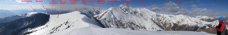 Panoramica dal Todano (cima E)