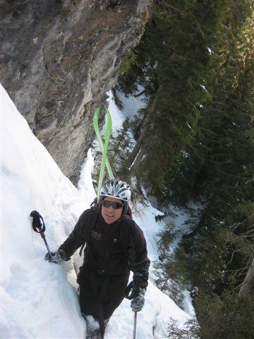 Latschur: Andi im Wald