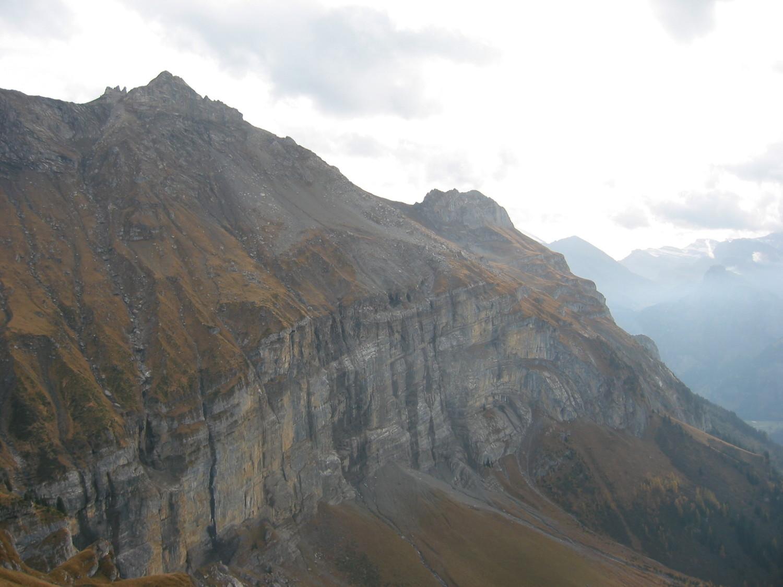 La paroi de Breitwandflh, célèbre pour ses cascades de glace en hiver