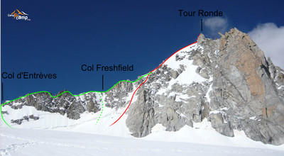 Tour Ronde,E face and SE ridge