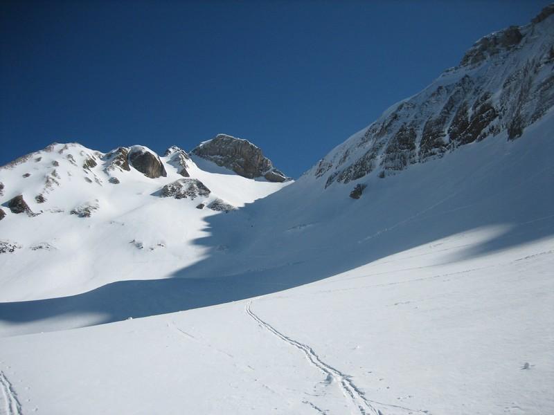 Pointe Blanche et combe du col du Rasoir