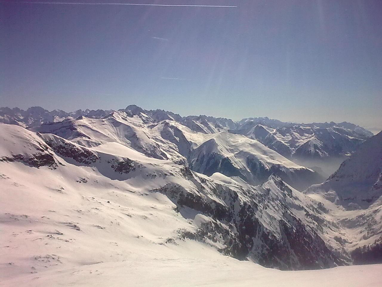 depuis sommet, vue Sud , entrée de la combe des Ramays