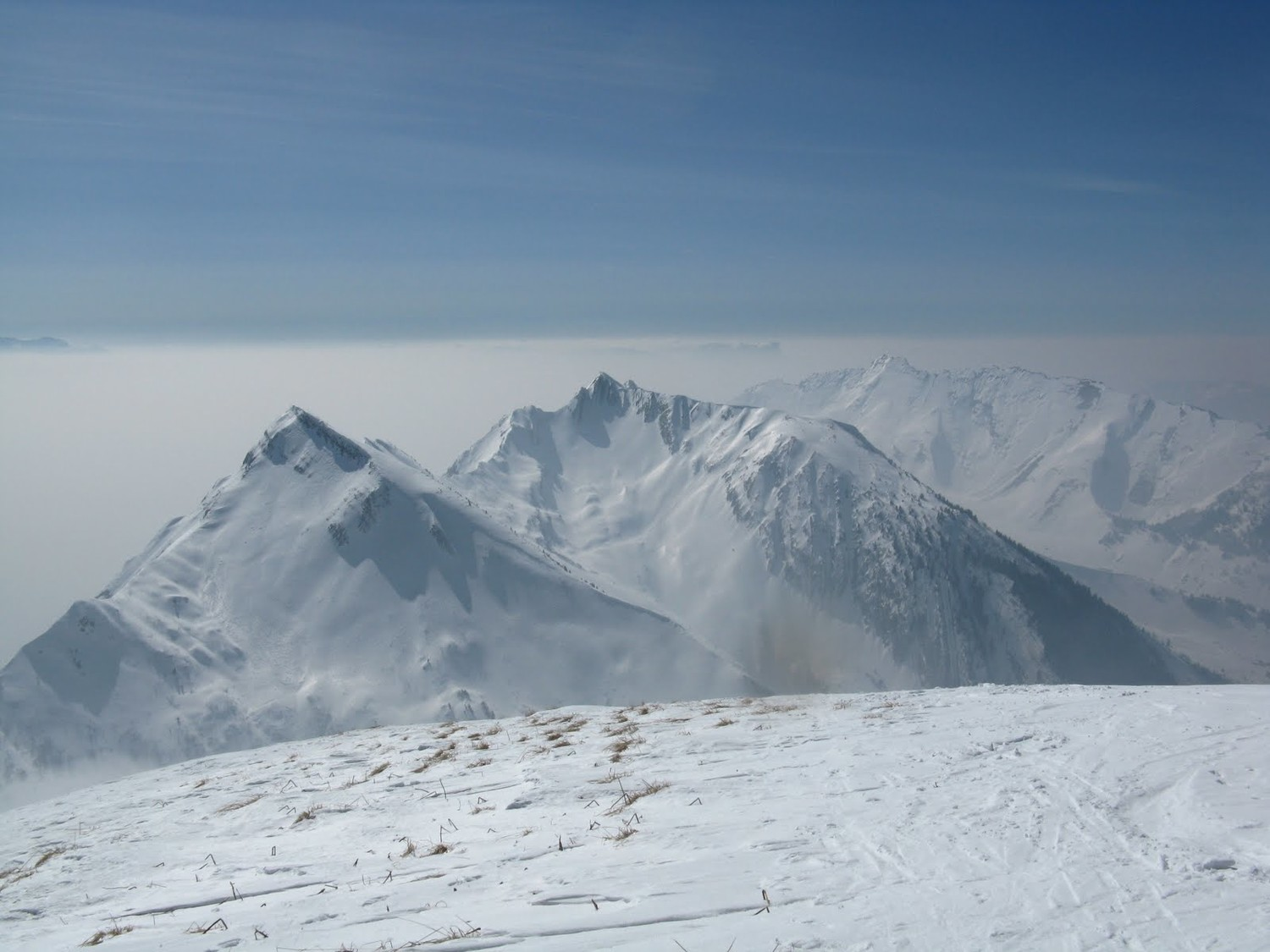 Enfilade Arces-Arlicots-Arcluse depuis Mont d'Armène