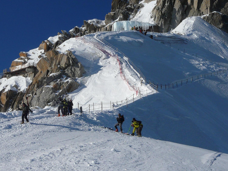 L'arête équipée de l'Aiguille du Midi (en hiver seulement)