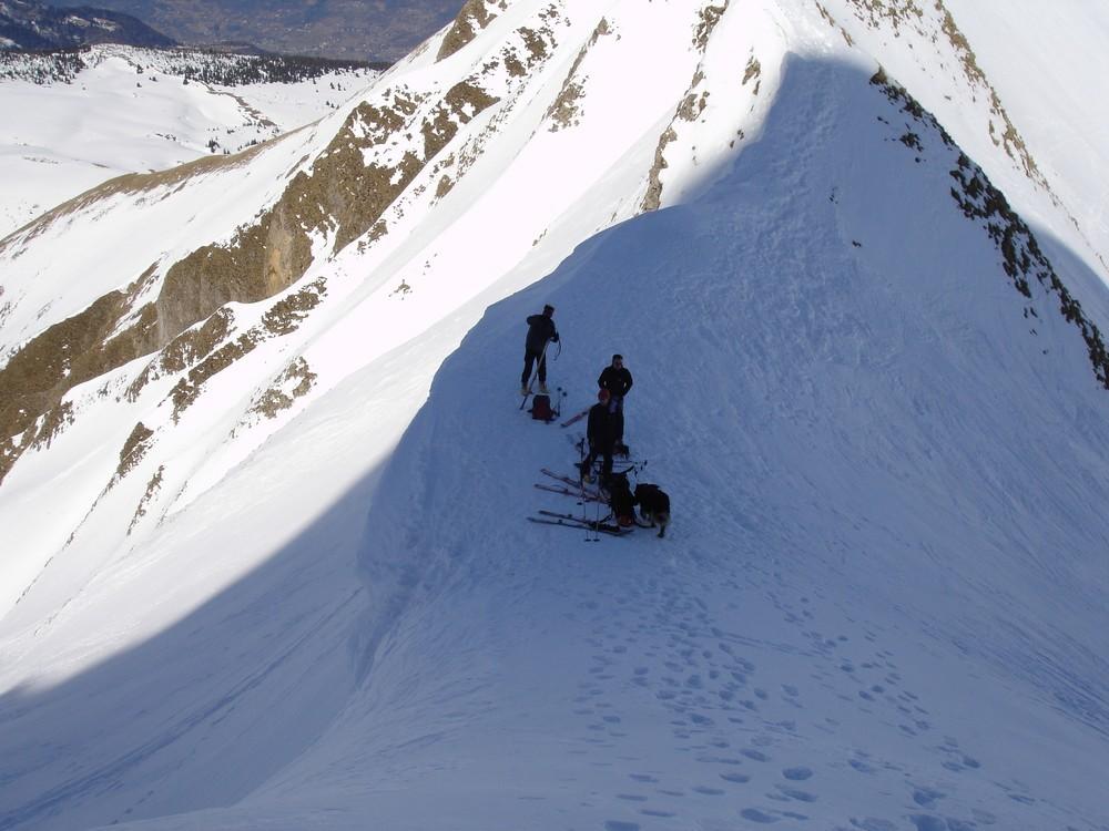 Régis fait du ski (Cf photo corniche)