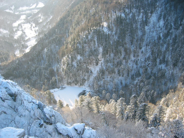 Lac de Fischboedle depuis l'arête des Spitzkopf