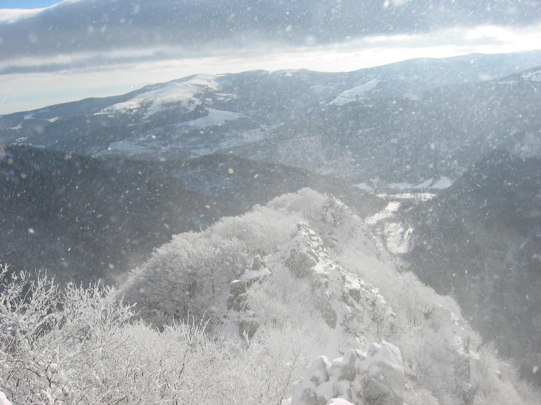 Vent et neige sur les Spitzkopf