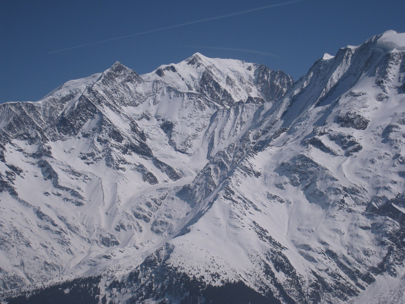 Mt Blanc -vue depuis Tete de la Combaz