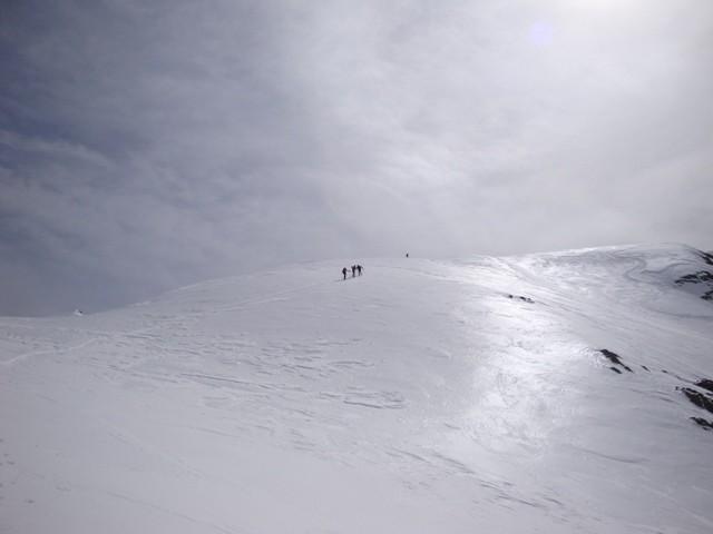Verso la cima del Pizzo della Brunone