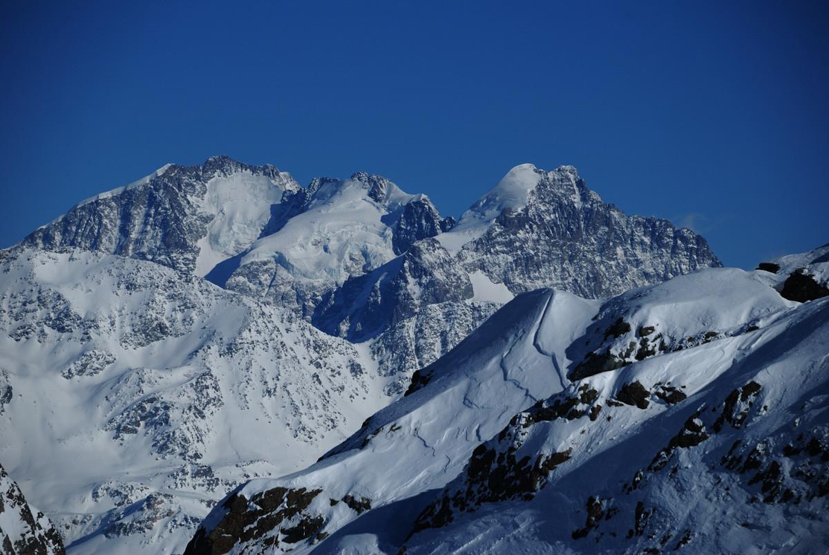 Piz Bernina (4049m) depuis le sommet du Piz dal Sasc