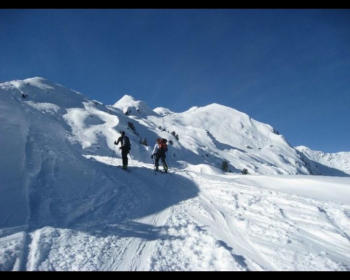 En route vers le sommet du Rogneux