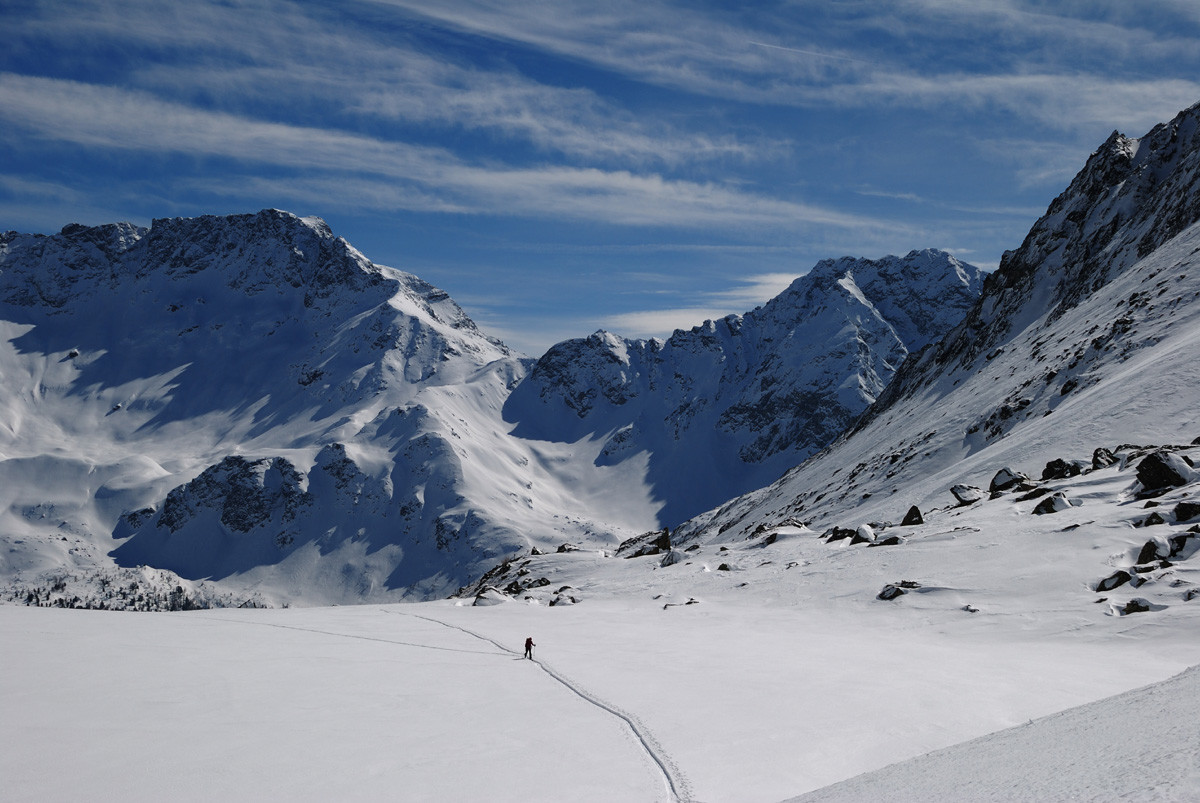 Val Mera, au dessus du Rifugio Saoseo (Val Poschiavo, Grisons)