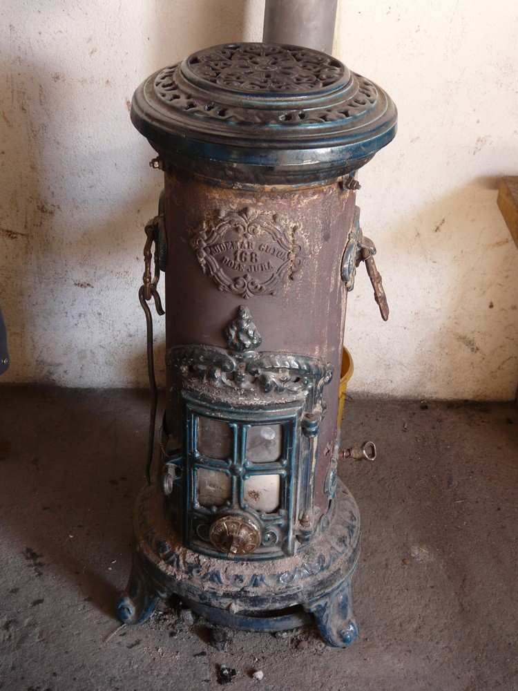 The old stove in the shelter