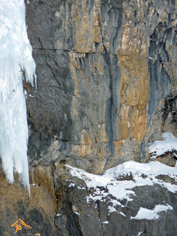 Cirque de Gavarnie - Aloïs - L2 - Vire, relais supendu et attaque de la glace