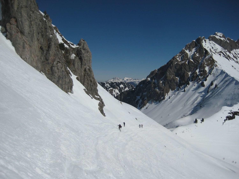 Vue du Col de Foron depuis le Col de Chalune