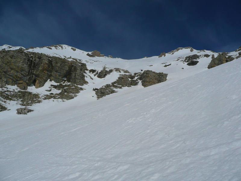 Combe d'Aurouze: belle pente de 700 m rive gauche de la combe