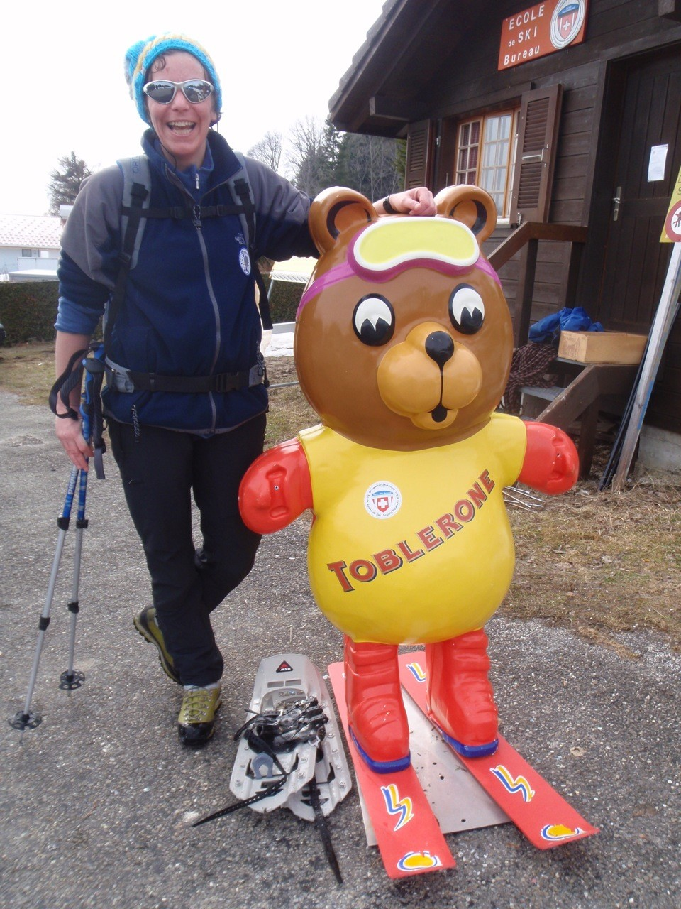 Avec Toby de l'Ecole de ski