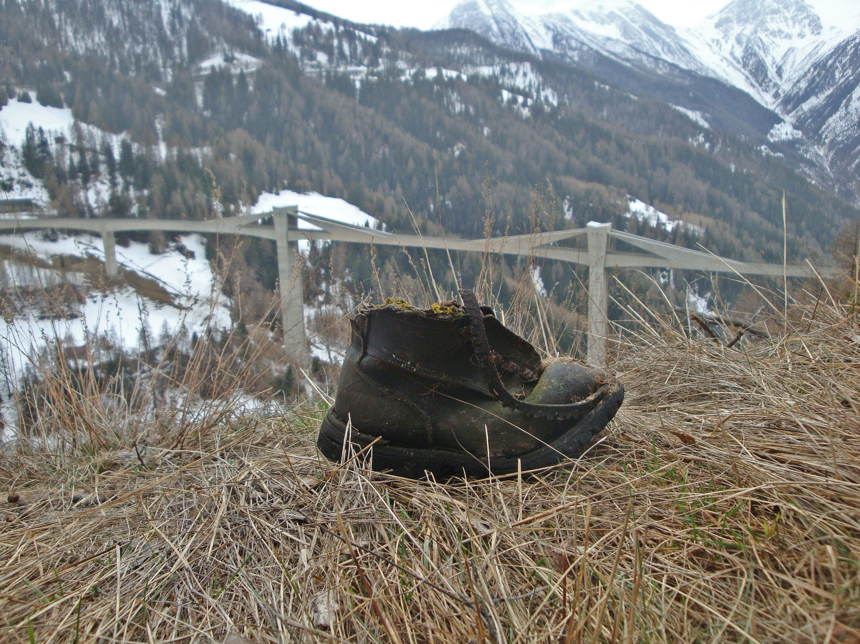 Ancien bisse de Hasleri: chaussure militaire de guerre de 14/18