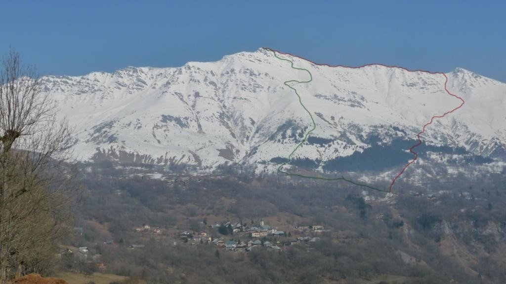 Mont Du Fût Mars 2010; Itinéraire du Jour , Photo et it de Thierry Forestier