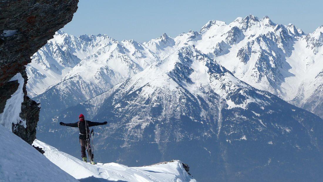 """Mont Du Fût Mars 2010;Après le """"Mollard Des Beufs"""" vue sur Belledonne Est, Photo de Thierry Forestier"""