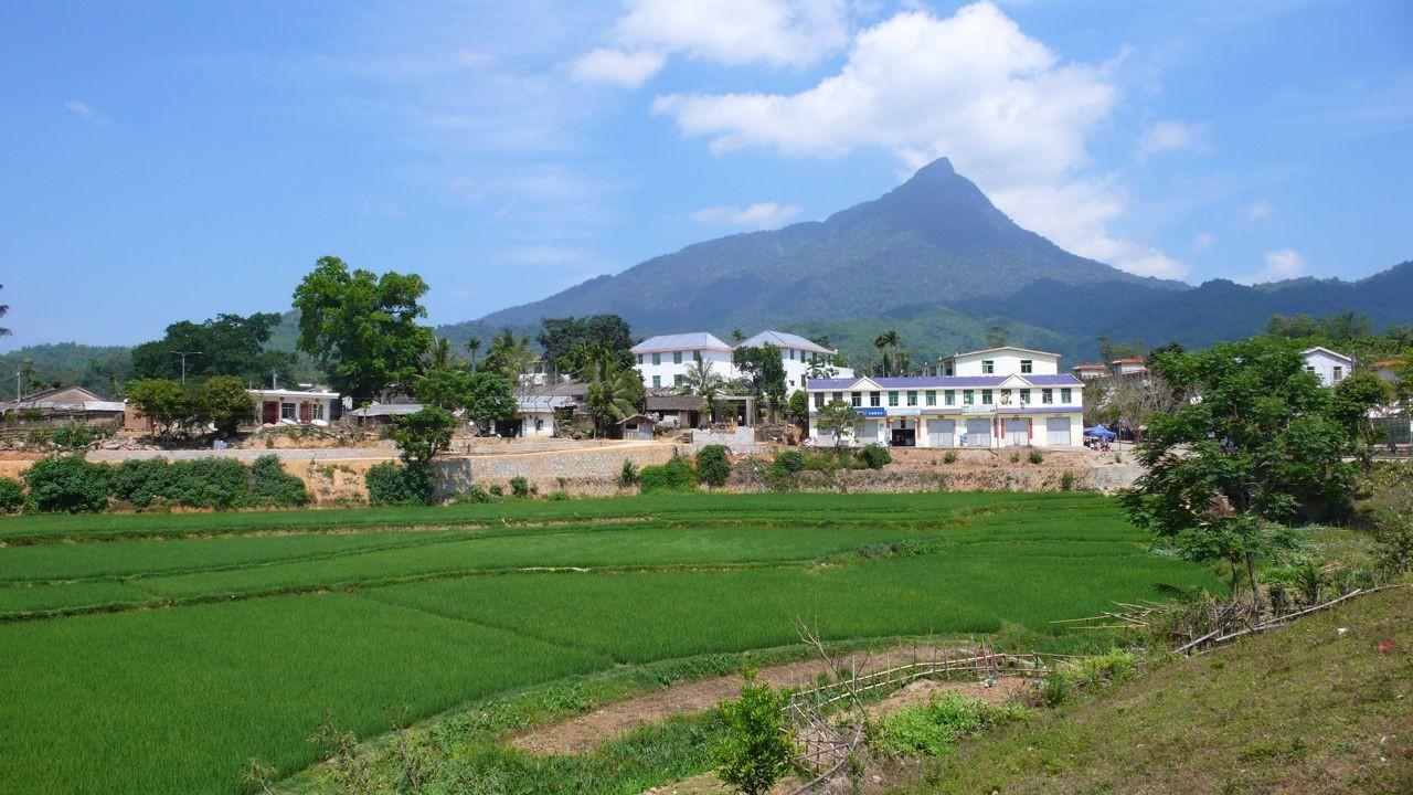 Wuzhishan audessus du village Shuiman
