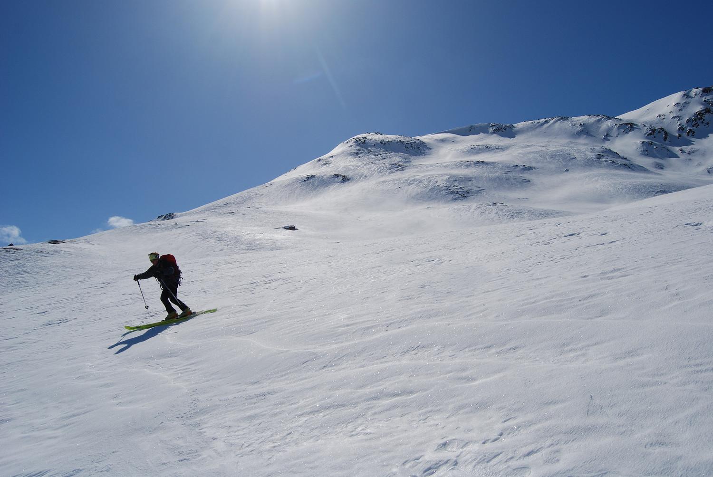 Durante la discesa  dal Munt Müsella 2630 m.