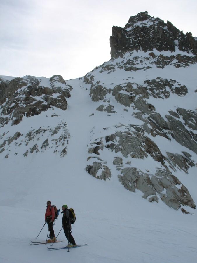 Brèche Puiseux - Couloir final pour rejoindre le glacier de Leschaux