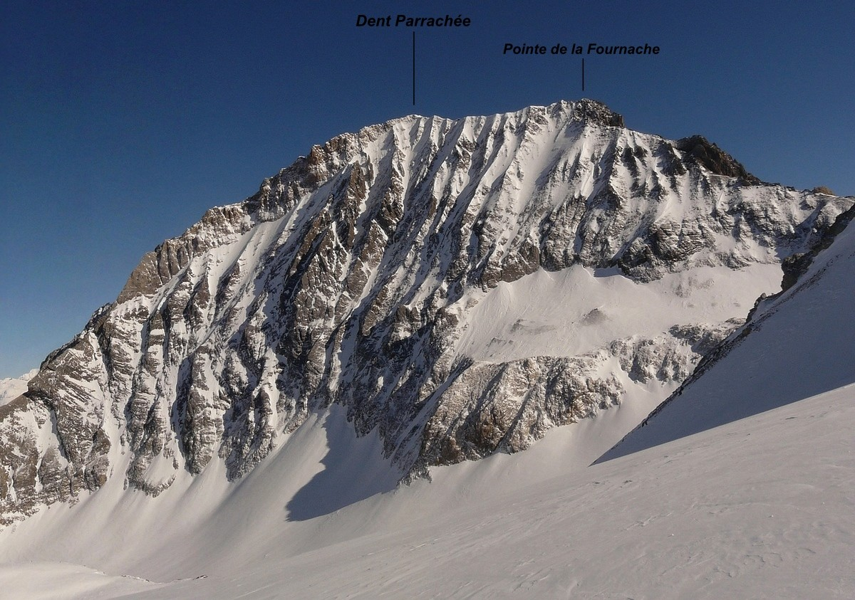 Dent Parrachée - Face NW