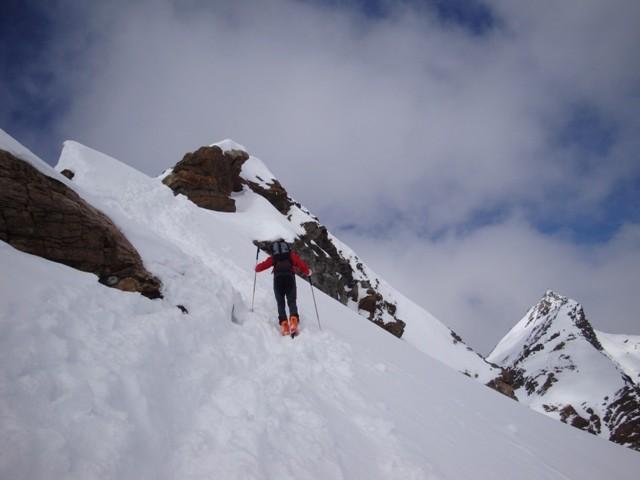 Salendo al Egghorn, il Silvretta sullo sfondo