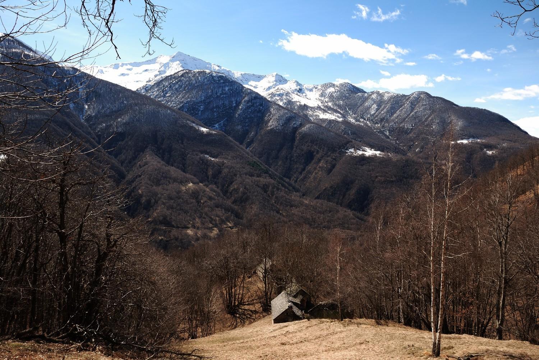 Sur le balcon du Val Vigezzo, au fond les sommets du PN du Val Grande